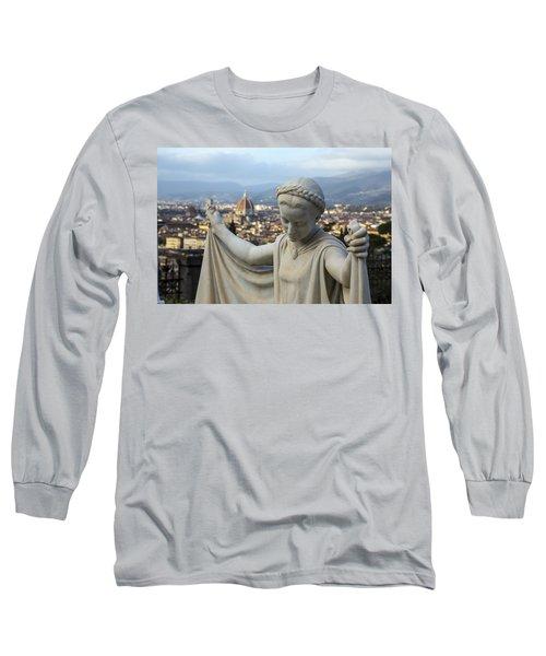Angel Of Firenze Long Sleeve T-Shirt by Sonny Marcyan