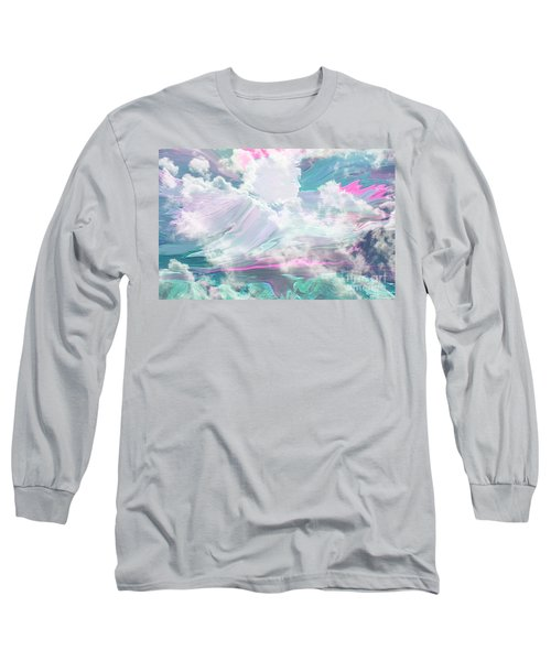 Angel Art Angel Of Peace And Healing Long Sleeve T-Shirt by Sherri's Of Palm Springs
