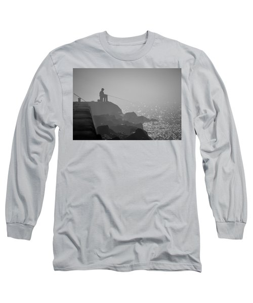 Angling In A Fog  Long Sleeve T-Shirt