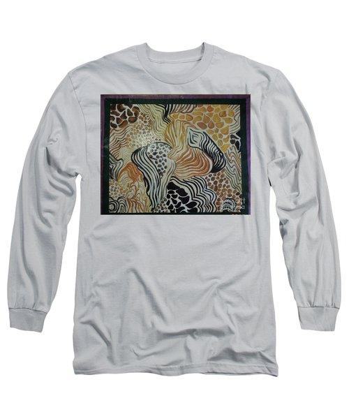 Animal Print Floor Cloth Long Sleeve T-Shirt