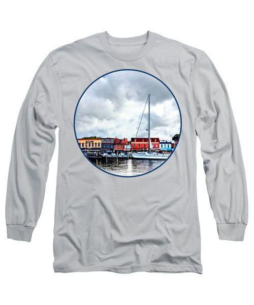 Annapolis Md - City Dock Long Sleeve T-Shirt