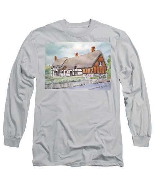 Anne Hathaway's Cottage Long Sleeve T-Shirt by Marilyn Zalatan