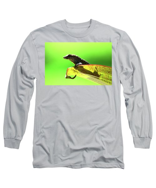 Anole In Green Long Sleeve T-Shirt