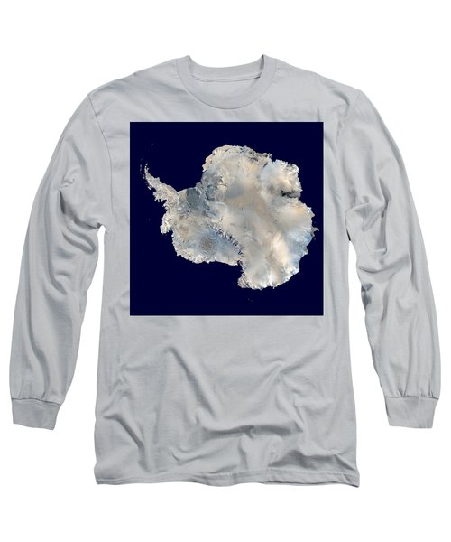 Antarctica From Blue Marble Long Sleeve T-Shirt