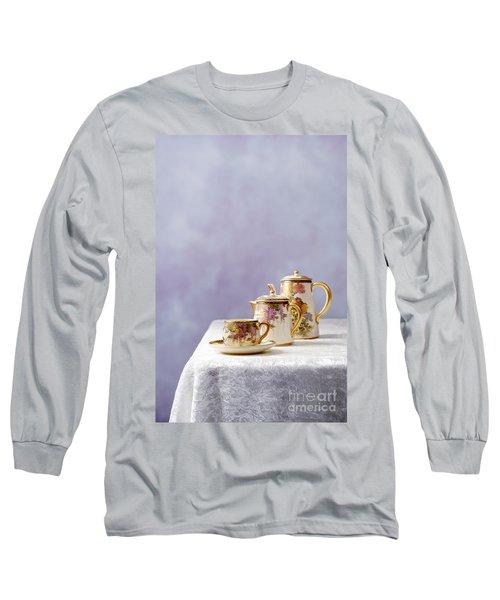 Antique Oriental Teaset Long Sleeve T-Shirt