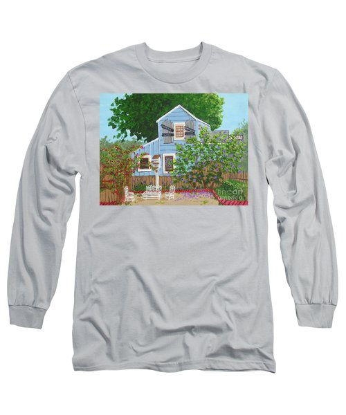 Long Sleeve T-Shirt featuring the painting Antique Shop, Cambria Ca by Katherine Young-Beck
