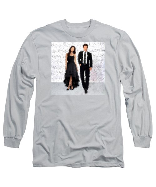 Long Sleeve T-Shirt featuring the digital art Antonia And Giovanni by Nancy Levan