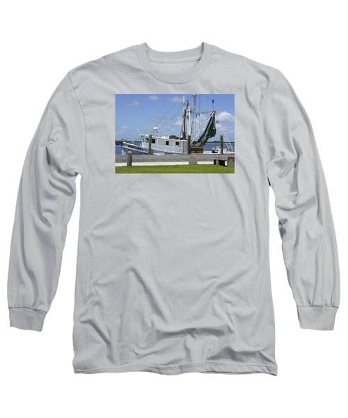 Appalachicola Shrimp Boat Long Sleeve T-Shirt by Laurie Perry