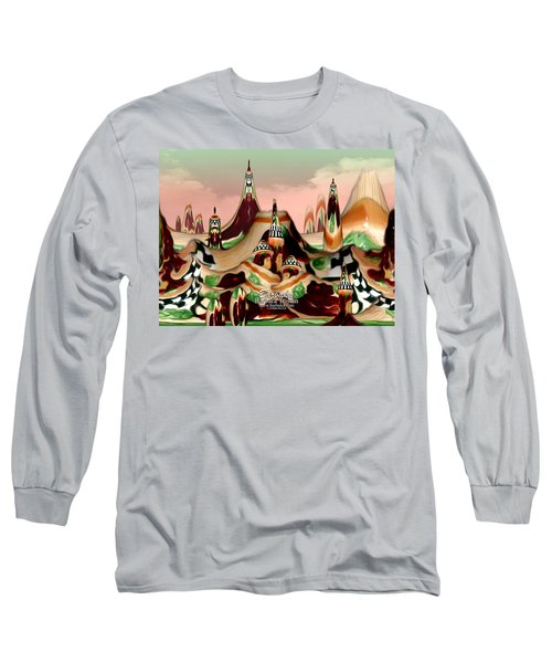 Apple Land Countryside Long Sleeve T-Shirt by Barbara Tristan