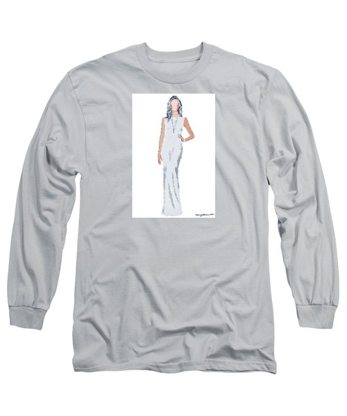 Long Sleeve T-Shirt featuring the digital art April by Nancy Levan
