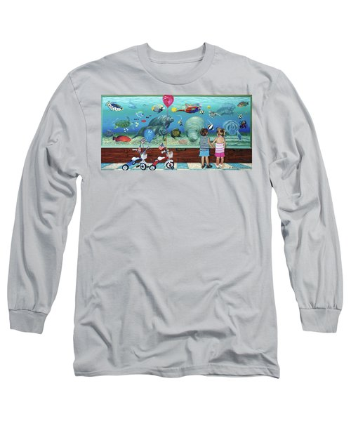 Aquarium With Twins Towel Version Long Sleeve T-Shirt
