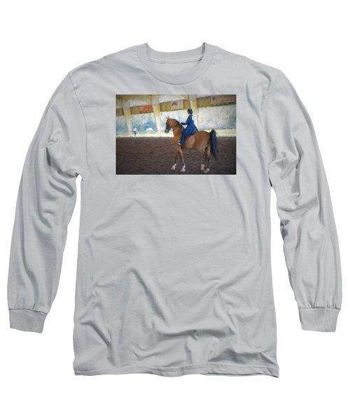 Arabian Dressage Long Sleeve T-Shirt by Louis Ferreira