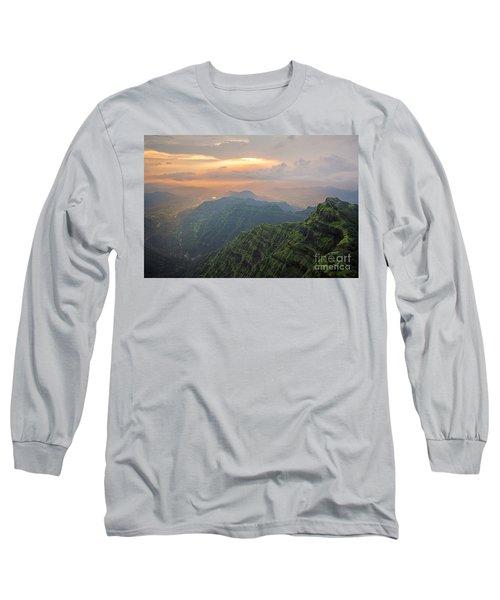 Arthurs Seat At Dusk Long Sleeve T-Shirt
