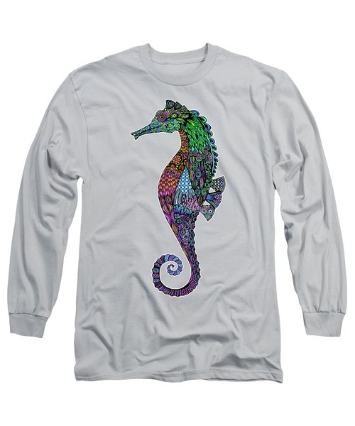 Electric Gentleman Seahorse Long Sleeve T-Shirt by Tammy Wetzel