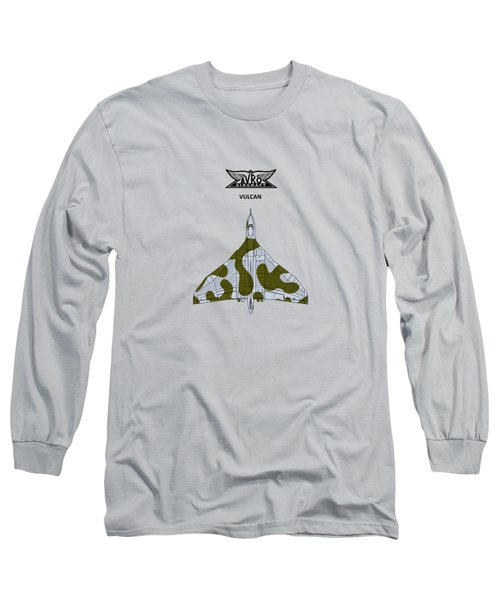 The Vulcan - White Long Sleeve T-Shirt