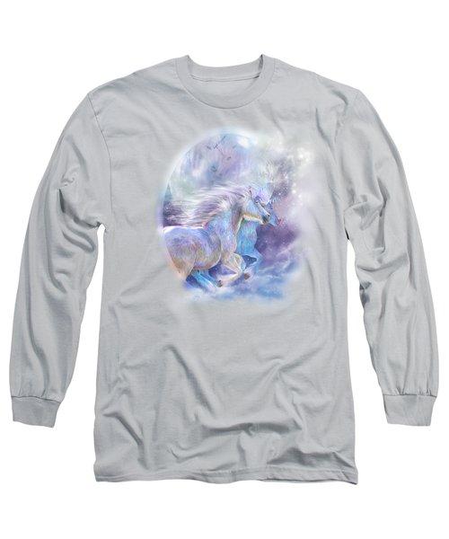 Unicorn Soulmates Long Sleeve T-Shirt by Carol Cavalaris