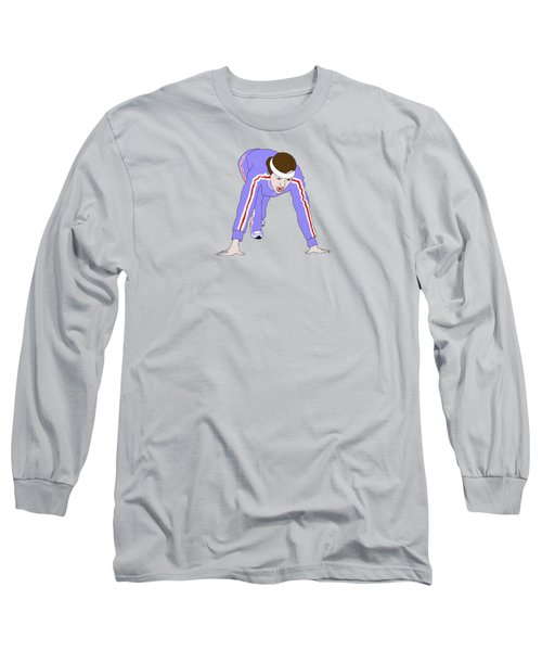 Running Track Long Sleeve T-Shirt by Priscilla Wolfe