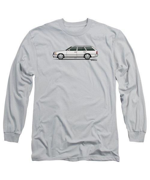 Mercedes Benz W124 T124 300te E-class White Estate Wagon Long Sleeve T-Shirt