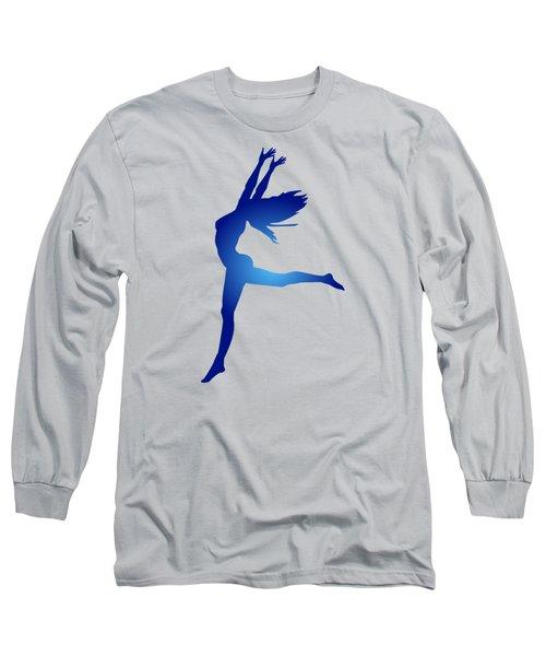 Dancing Woman Long Sleeve T-Shirt by Serena King