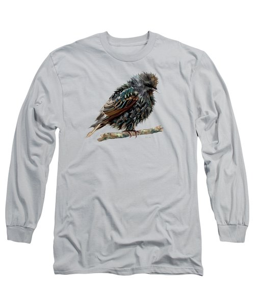 Wet Starling Long Sleeve T-Shirt by Bamalam Photography