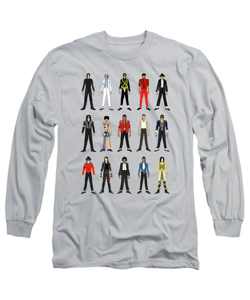 Outfits Of Michael Jackson Long Sleeve T-Shirt by Notsniw Art