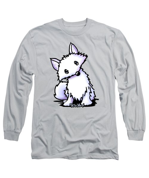 Arctic Fox Long Sleeve T-Shirt by Kim Niles