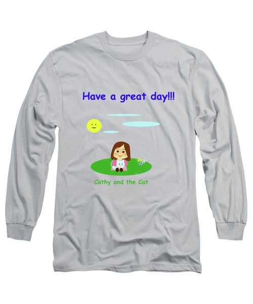 Cathy And The Cat Have A Great Day Long Sleeve T-Shirt