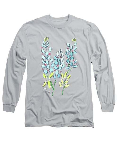 Addie Womack Bluebonnet And Patches The Horse Long Sleeve T-Shirt