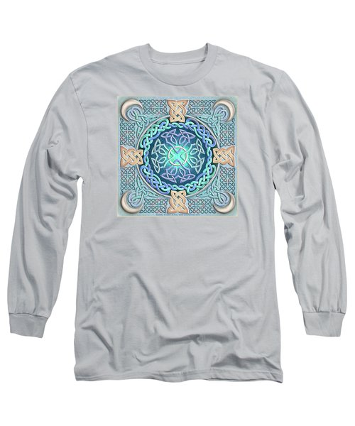 Long Sleeve T-Shirt featuring the mixed media Celtic Eye Of The World by Kristen Fox