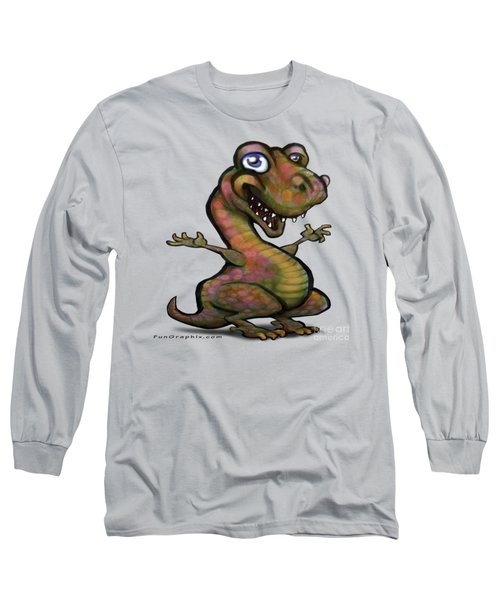 Baby T-rex Blue Long Sleeve T-Shirt