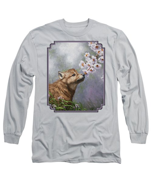 Wolf Pup - Baby Blossoms Long Sleeve T-Shirt