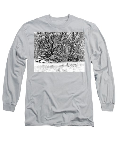 Three Tires And A Snowstorm Long Sleeve T-Shirt by Bill Kesler