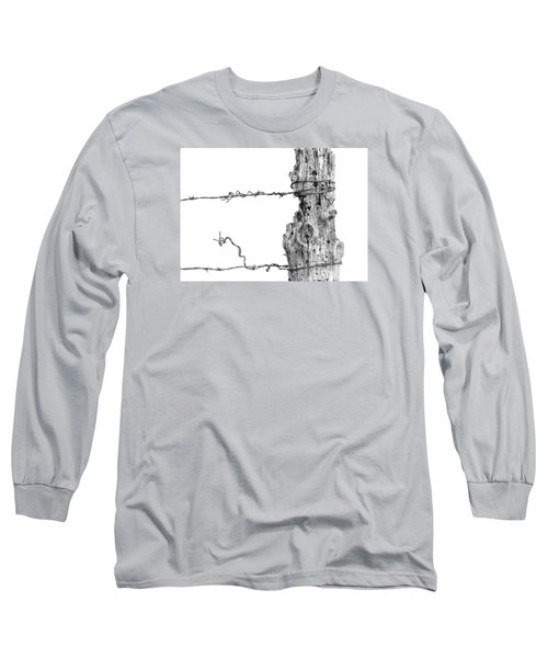 Long Sleeve T-Shirt featuring the photograph Post With Character by Bill Kesler