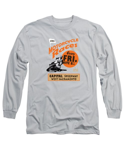 Motorcycle Speedway Races Long Sleeve T-Shirt