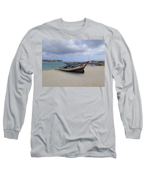 Long Sleeve T-Shirt featuring the photograph Aruba Beach by Lois Lepisto