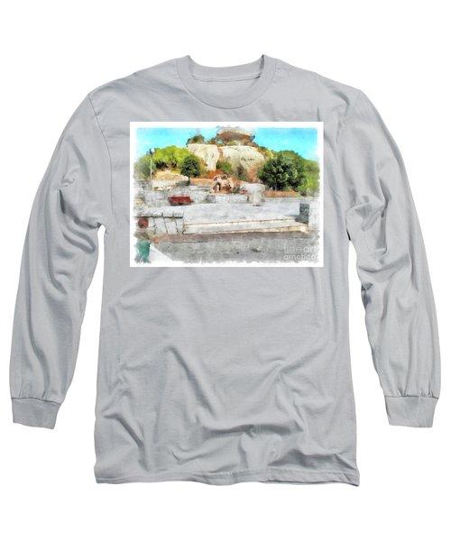 Arzachena Mushroom Rock With Children Long Sleeve T-Shirt