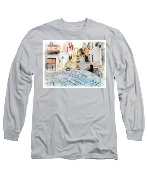 Arzachena View Staircase And Church Long Sleeve T-Shirt