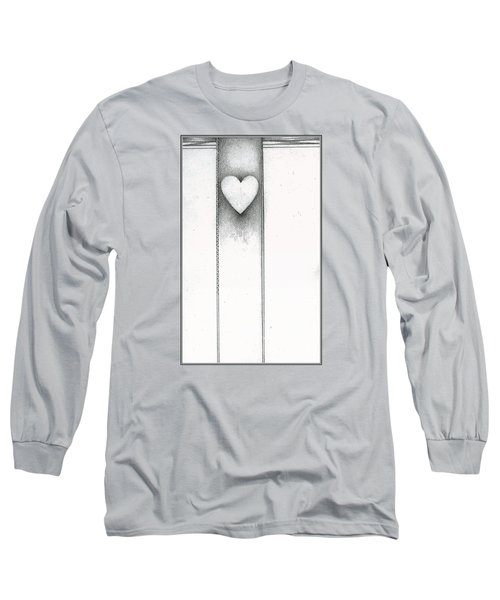 Long Sleeve T-Shirt featuring the drawing Ascending Heart by James Lanigan Thompson MFA
