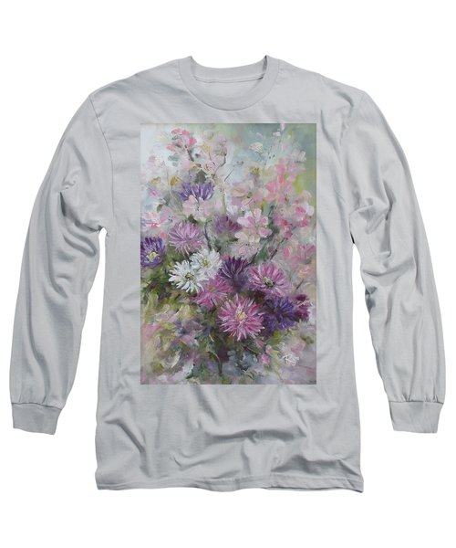 Asters And Stocks Long Sleeve T-Shirt