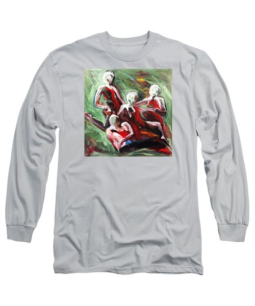 At Liberty Long Sleeve T-Shirt by Helen Syron
