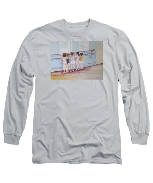 At The Barre Long Sleeve T-Shirt by Julie Todd-Cundiff