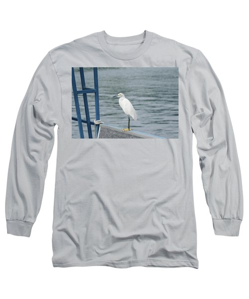 Long Sleeve T-Shirt featuring the photograph At The Edge by Kim Hojnacki