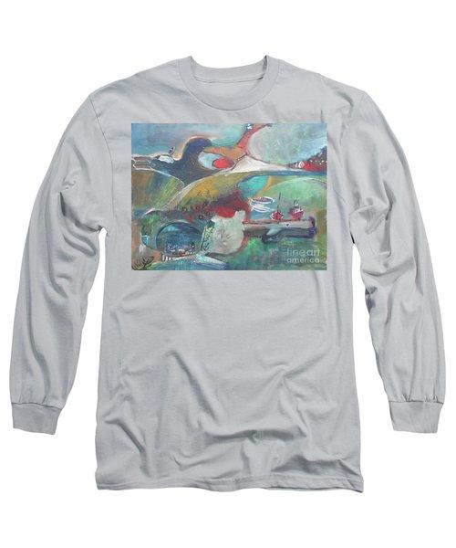 At The Sea Shore Long Sleeve T-Shirt