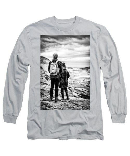 Long Sleeve T-Shirt featuring the photograph On The Edge by Nick Bywater