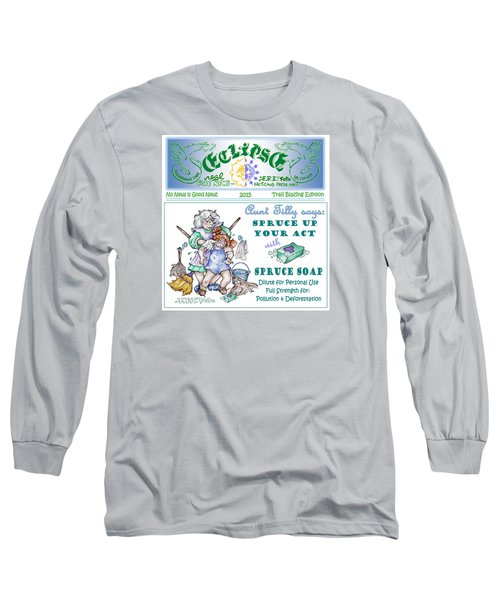 Long Sleeve T-Shirt featuring the painting Real Fake News Tilly Ad 1 by Dawn Sperry