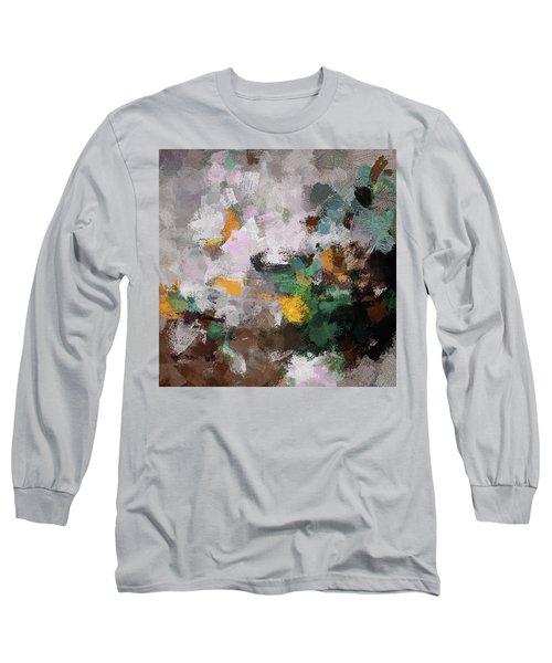 Autumn Abstract Painting Long Sleeve T-Shirt by Ayse Deniz
