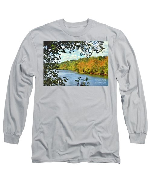 Autumn Along The New River - Bisset Park - Radford Virginia Long Sleeve T-Shirt