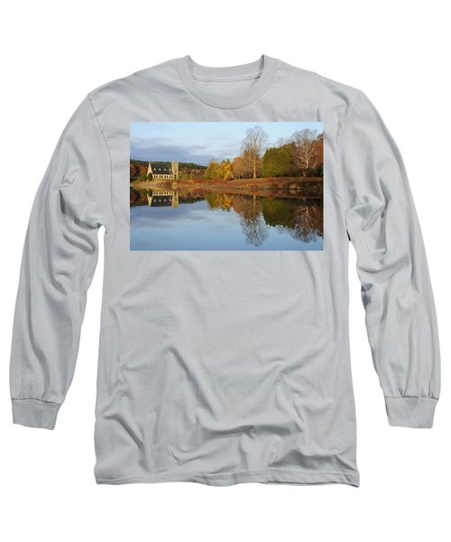 Autumn At The Old Stone Church Long Sleeve T-Shirt