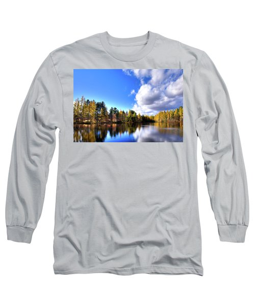 Long Sleeve T-Shirt featuring the photograph Autumn Calm At Woodcraft Camp by David Patterson