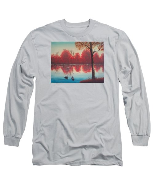 Autumn Loons Long Sleeve T-Shirt by Brenda Bonfield